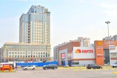 Modern buildings on Moskovsky Avenue. Stock Photo