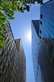 Modern buildings. New office buildings in Barcelona with the sunlight Royalty Free Stock Images