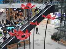 Modern buildings - new shopping center Mega Silk Way Stock Image