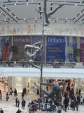 Modern buildings - new shopping center Mega Silk Way. Astana, view of the new shopping center called Mega Silk Way inside; some decorations and figurs royalty free stock images