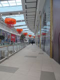 Modern buildings - new shopping center Mega Silk Way. Astana, view of the new shopping center called Mega Silk Way inside; some decorations and figurs Royalty Free Stock Photos
