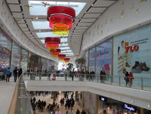 Modern buildings - new shopping center Mega Silk Way. Astana, view of the new shopping center called Mega Silk Way inside; some decorations and figurs Stock Images