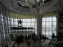 Modern buildings - new shopping center Mega Silk Way. Astana, view of the new shopping center called Mega Silk Way inside; some decorations and figurs Royalty Free Stock Photography