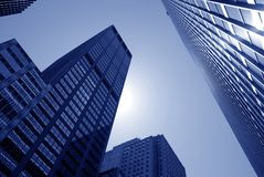 Modern buildings, new york city. Skyscrapers in new york city, new york, Manhattan stock images