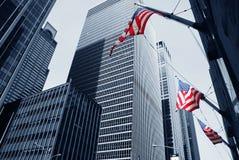Modern buildings, new york city. Skyscrapers in new york city, new york, manhattan royalty free stock image