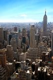 Modern buildings, new york city. Top of the rock, modern buildings new york city royalty free stock photography