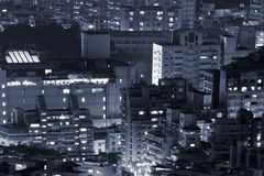 Modern buildings in night Royalty Free Stock Images