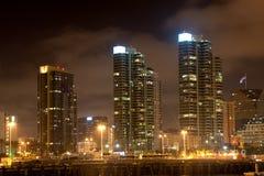 Modern buildings at night Royalty Free Stock Photos