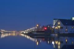 Modern buildings at night , cityscene Royalty Free Stock Image
