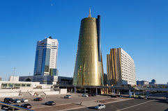 Modern buildings on Nurzhol Boulevard in Astana. Kazakhstan Stock Image