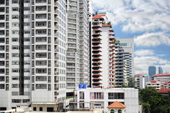 Modern buildings over blue sky background Royalty Free Stock Photo