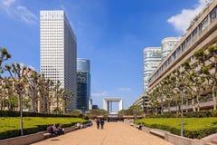 Modern buildings in Paris Stock Images