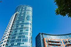 Modern Buildings in Portsmouth, England Royalty Free Stock Photography