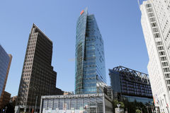 Modern buildings in postdamer platz Stock Images