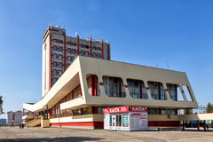 Modern buildings of railway station in the city Lipetsk. Russa Stock Photography