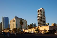 San Diego cityscape and street view stock photo