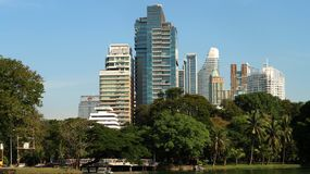 Modern buildings rise in Thai capital royalty free stock images