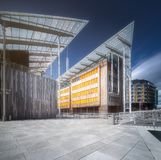 Modern buildings at riverbank in Oslo, Norway. Modern buildings at riverbank in Oslo at day time, Norway Stock Images