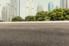Modern buildings and roads Royalty Free Stock Images