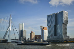 Modern buildings in rotterdam Royalty Free Stock Photo