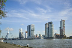 Modern buildings in rotterdam Stock Photos