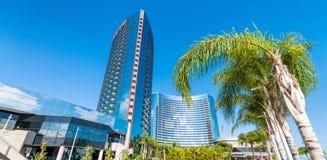 Modern buildings of San Diego skyline.  royalty free stock photography
