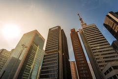 Modern Buildings in Sao Paulo City Royalty Free Stock Photo