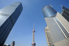 Shanghai Lujiazui business and financial center Royalty Free Stock Photo