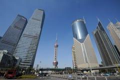 Shanghai Lujiazui business and financial center Stock Photos