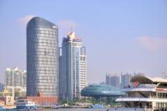 Modern buildings in Shanghai Bund Royalty Free Stock Images