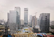 Modern buildings at shenzhen city royalty free stock photo