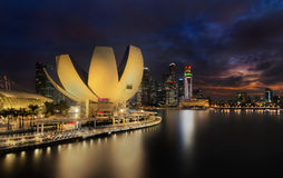 Modern Buildings in Singapore City Royalty Free Stock Images