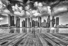 Modern buildings of Singapore Stock Images
