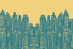 Modern Buildings Sketch Stock Images