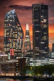 The modern buildings of the skyline of London stock photo