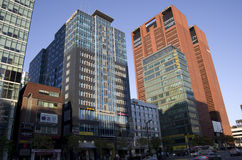 Modern buildings street gangnam seoul Stock Photo