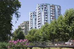 Modern Buildings In Tirana Royalty Free Stock Image