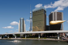 The modern buildings in Tokyo city Stock Image