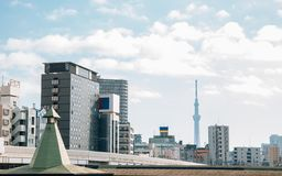 Modern buildings and tower in Tokyo, Japan royalty free stock images