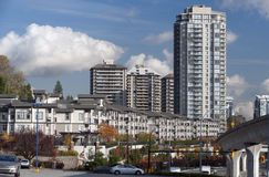 Modern buildings and townhouses in Canada Royalty Free Stock Photos