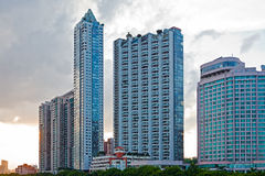 Modern buildings in twilight Royalty Free Stock Photo