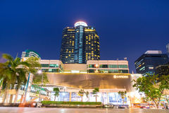 Modern buildings in twilight evening period in Bangkok, Thailand Stock Image
