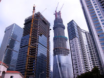Modern buildings under construction Royalty Free Stock Photo