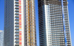 Modern Buildings Under Construction Stock Photos