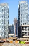 Modern Buildings Under Construction. Modern condo buildings under construction in Toronto, Canada Stock Images