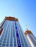 Modern Buildings Under Construction. Modern condo buildings under construction in Toronto, Canada Royalty Free Stock Photos