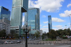 Modern buildings Warsaw Royalty Free Stock Photography