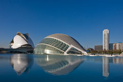 Modern buildings on water Royalty Free Stock Photography