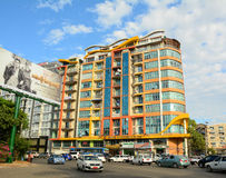 Modern buildings at Yangon downtown Stock Photos