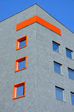 Modern buisiness building. Modern building,windows with orange details Royalty Free Stock Photos